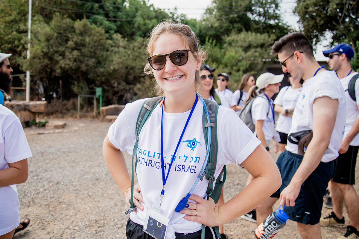 A BIrthright Israel participant smiling