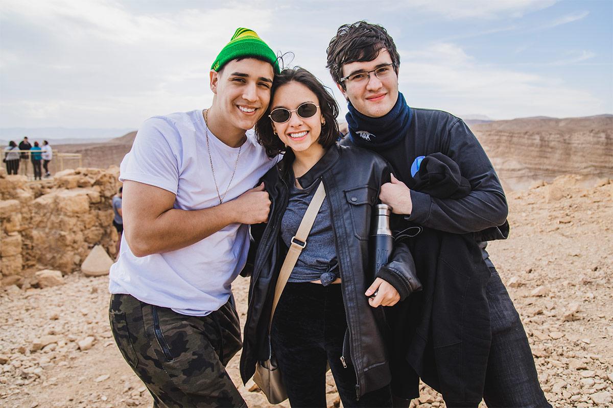 Birthright Israel participants at Masada