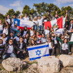 A group of Birthright Israel participants from around the world.