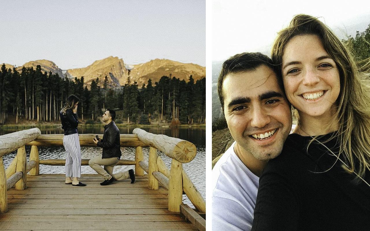 Birthright Israel alumnus Asher Mayberg proposing to alumna Julie Deutsch