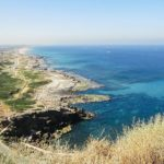 Gabi Alter's photo above the cliffs at Rosh HaNikra