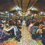 Birthright Israel participants in a Bedouin tent.