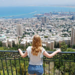 A girl overlooking Tel Aviv while on Birthright Israel