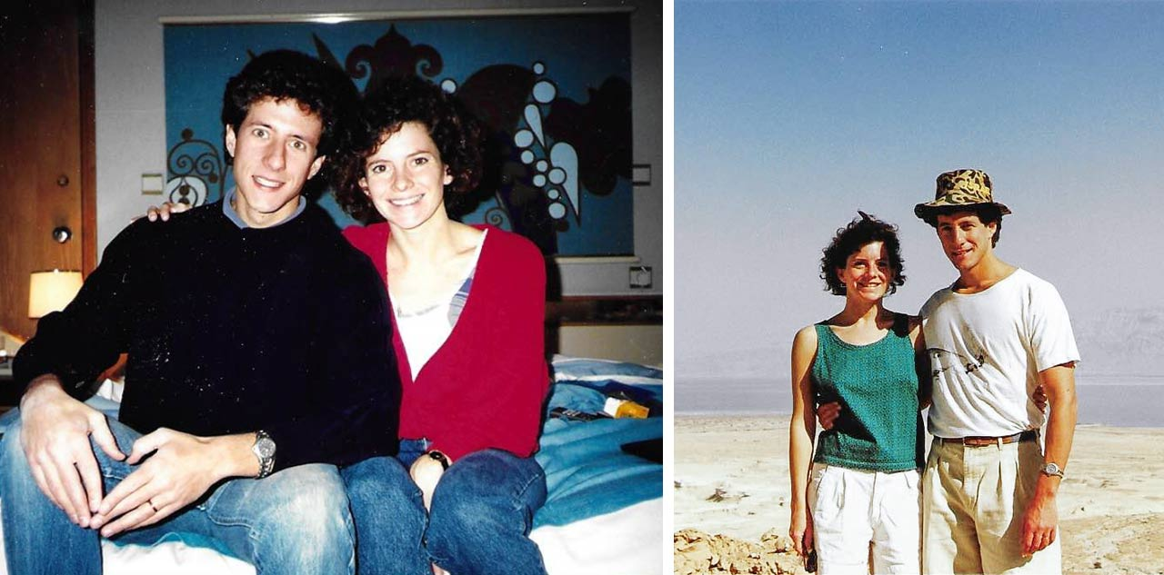 Birthright Israel donors Jill and Mitch Roberts on their honeymoon in Israel