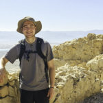 Cooper Myers on top of Masada on his Birthright Israel trip in 2019