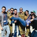 2013 Birthright Israel alumnus Jared Sapolsky with Mifgash from his group
