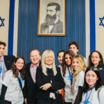 Dr. Miriam and Sheldon Adelson with Birthright Israel participants