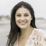 Birthright Israel Alumna Loren Brovarnik on the beach
