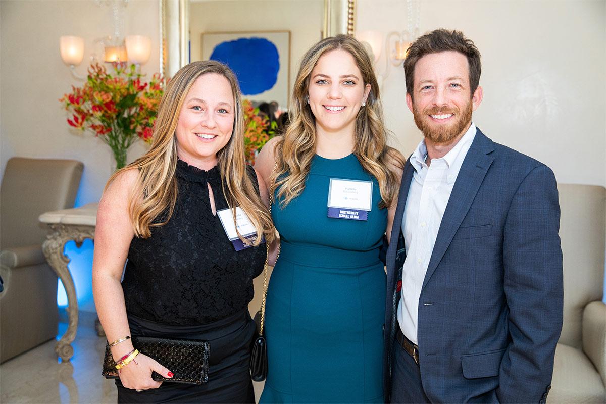 Brooke Pertnoy, Isabella Katzenberg and Kevin Shapiro