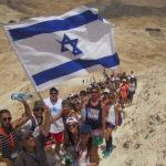 Birthright Israel participants hike up Masada