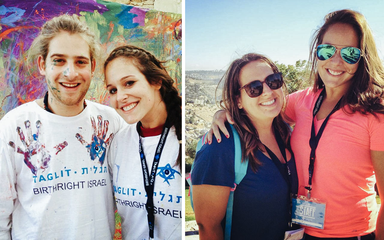 A collage of photos from Marisa Obuchowski's 2011 Birthright Israel trip