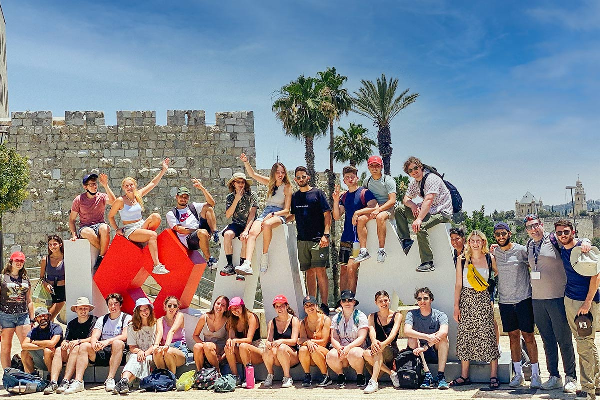 Staff member KiraFinkenberg's Birthright Israel group in the Old City in the summer of 2021